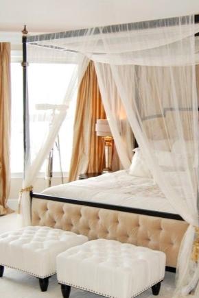 Дизайн спальни с балдахином над кроватью (фото и видео)1