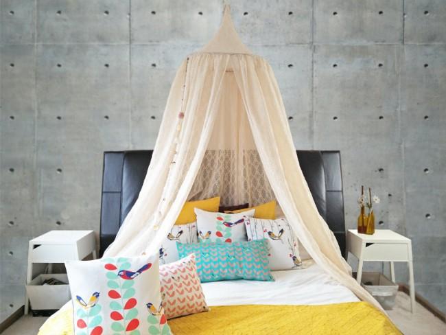 Дизайн спальни с балдахином над кроватью (фото и видео)3