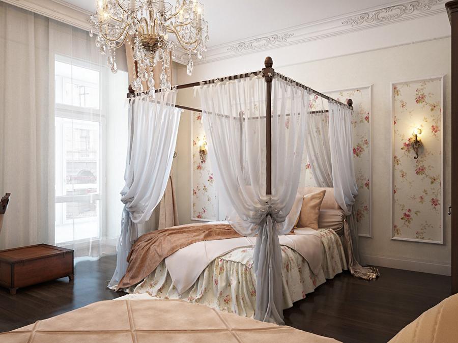 Дизайн спальни с балдахином над кроватью (фото и видео)6