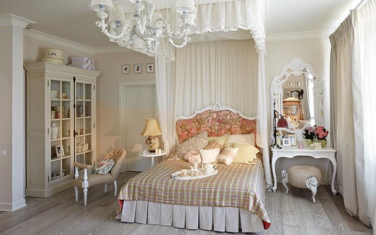 Дизайн спальни с балдахином над кроватью (фото и видео)7