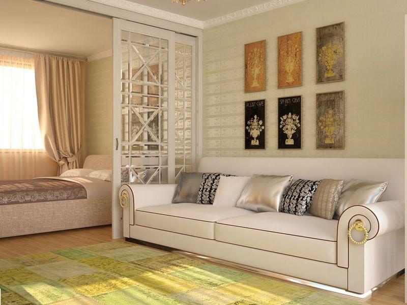 Дизайн спальни с диваном вместо кровати: правила1