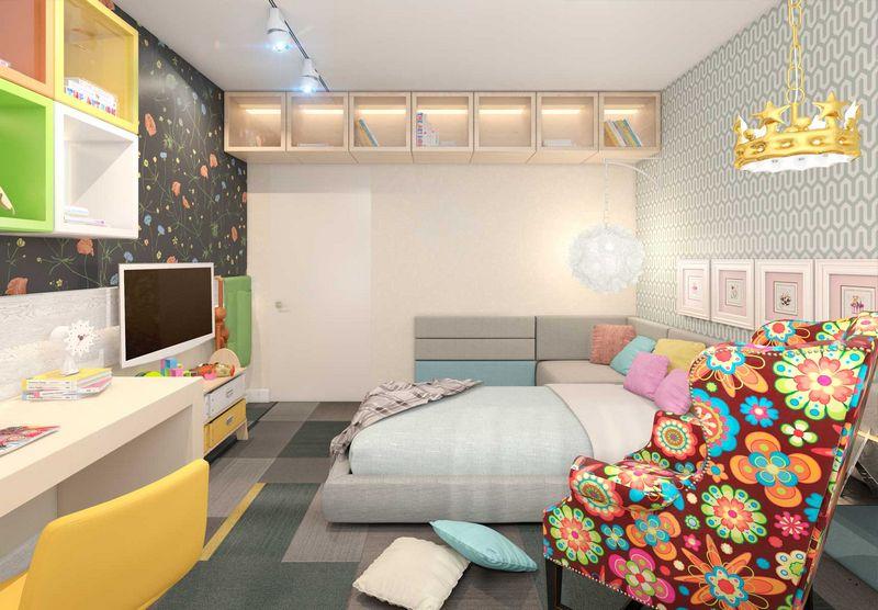 Дизайн спальни с диваном вместо кровати: правила5