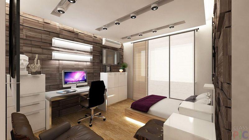 Дизайн спальни с диваном вместо кровати: правила6
