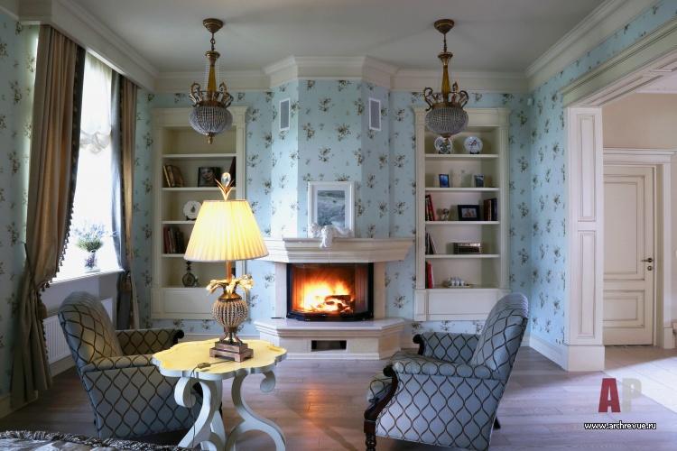 Дизайн спальни с камином: стиль кантри и китч в частном доме (фото)1
