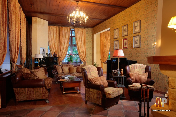 Дизайн спальни с камином: стиль кантри и китч в частном доме (фото)4