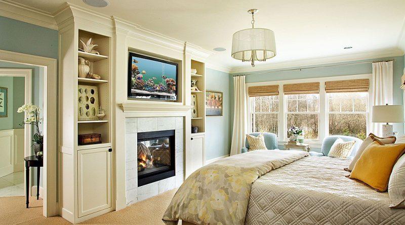 Дизайн спальни с камином: стиль кантри и китч в частном доме (фото)0