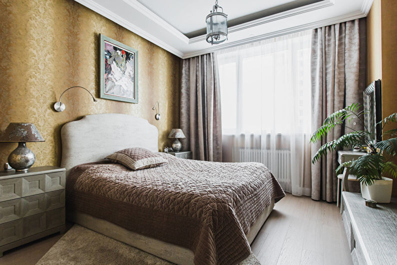 Дизайн спальни в классическом стиле0