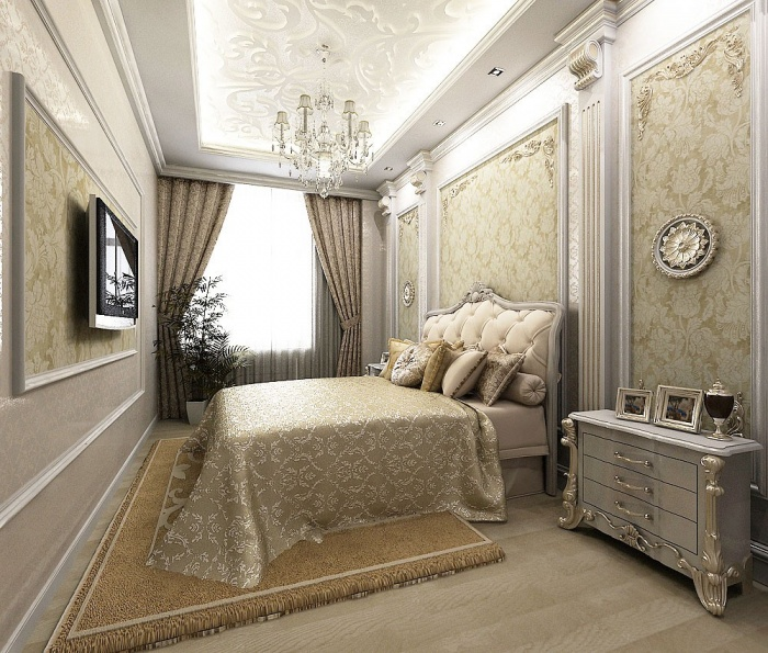 Дизайн спальни в классическом стиле1