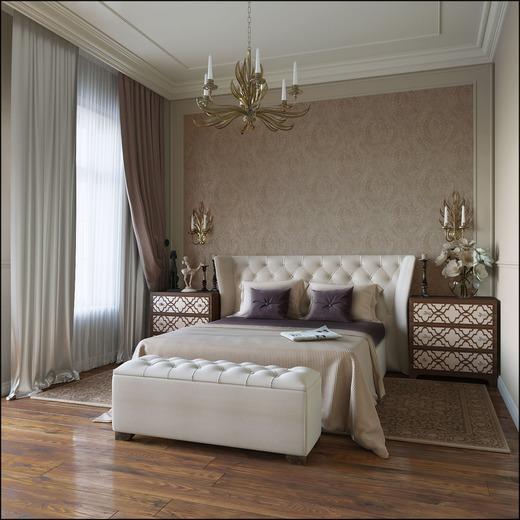 Дизайн спальни в классическом стиле5