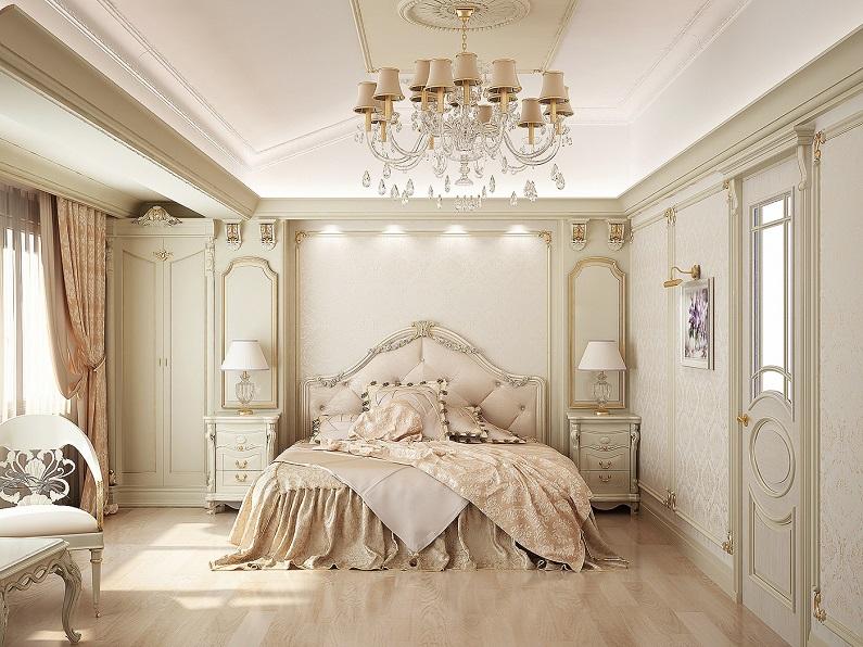 Дизайн спальни в классическом стиле6