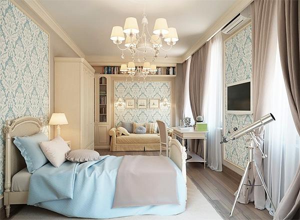 Дизайн спальни в классическом стиле7