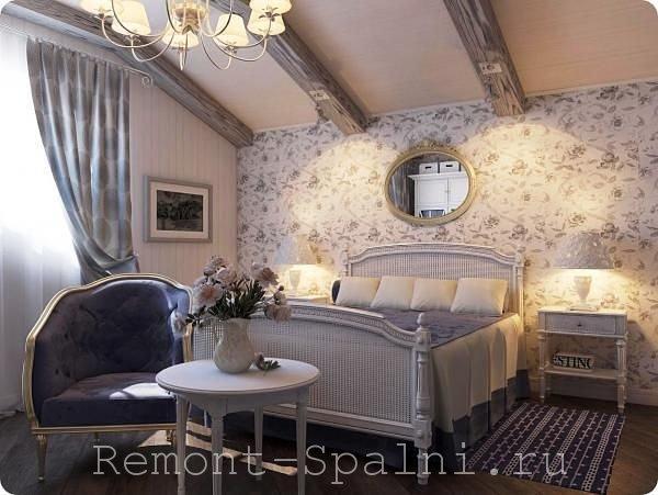 Дизайн спальни в стиле прованс: особенности оформления, освещение и мебель (фото и видео)1