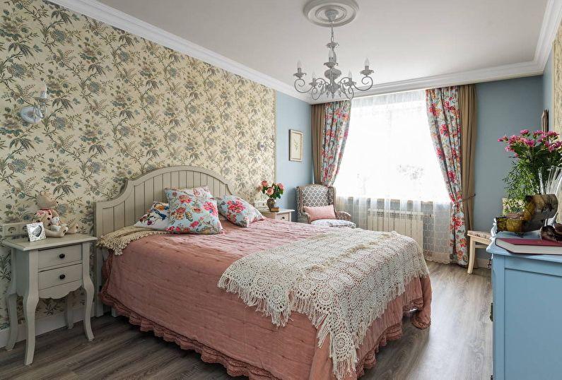 Дизайн спальни в стиле прованс: особенности оформления, освещение и мебель (фото и видео)3