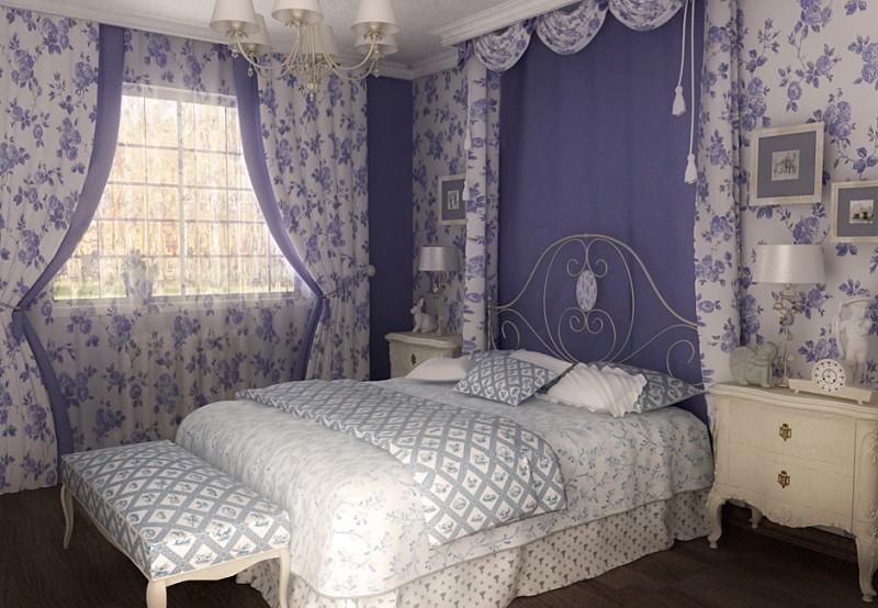 Дизайн спальни в стиле прованс: особенности оформления, освещение и мебель (фото и видео)4