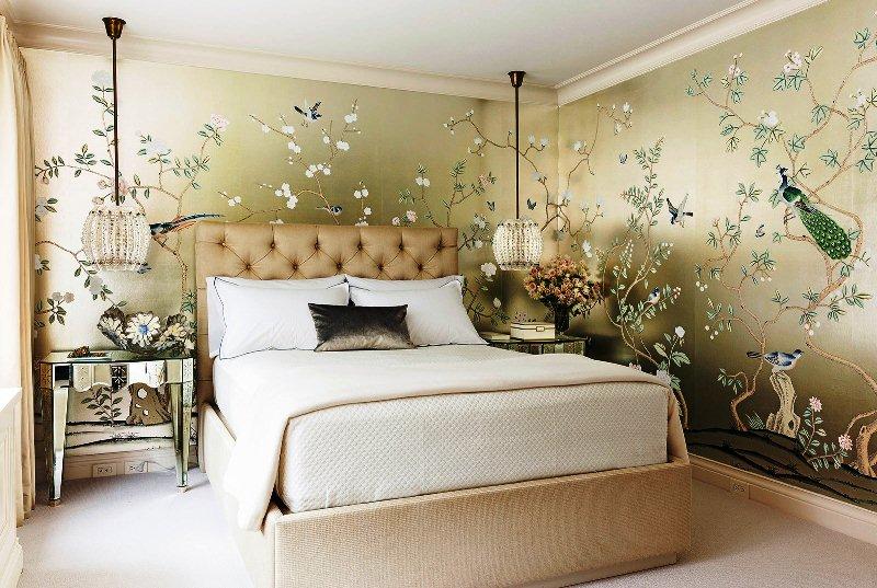 Дизайн стен: обои в спальне, их выбор, преимущества1