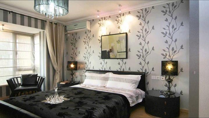 Дизайн стен: обои в спальне, их выбор, преимущества3