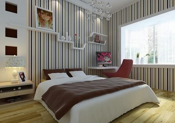 Дизайн стен: обои в спальне, их выбор, преимущества0