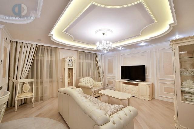 Дизайн вместительной гостиной в стиле неоклассика5
