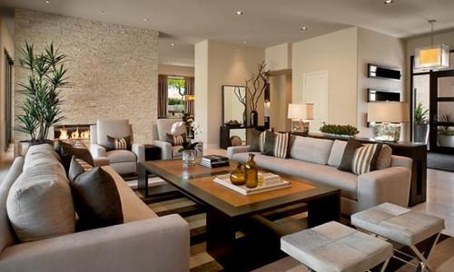 Дизайн зала по всем правилам в доме0