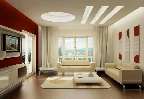 Дизайн зала по всем правилам в доме1