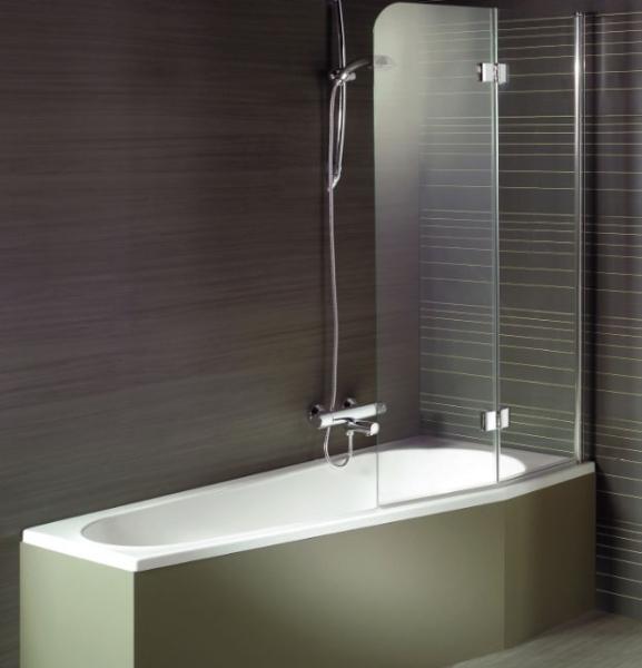 Дизайнеры советуют: декорируем ванную при помощи стеклянных шторок1