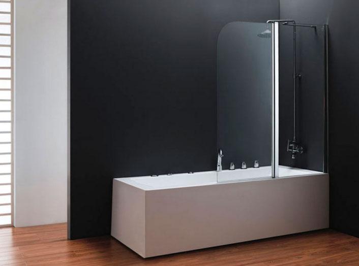 Дизайнеры советуют: декорируем ванную при помощи стеклянных шторок6