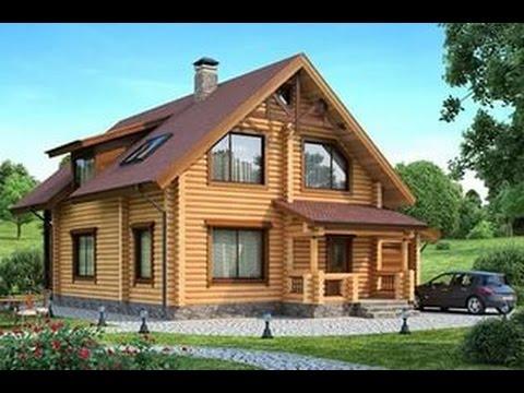 Дом из оцилиндрованного бревна0