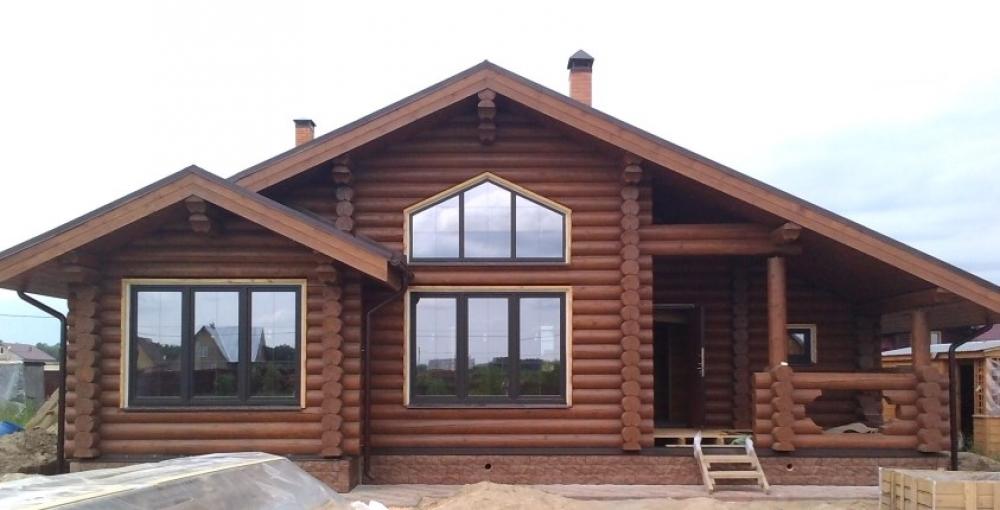 Дом из оцилиндрованного бревна9