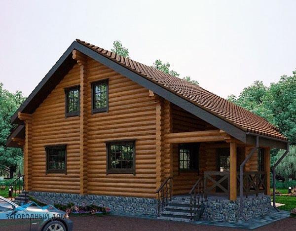 Дом из оцилиндрованного бревна1