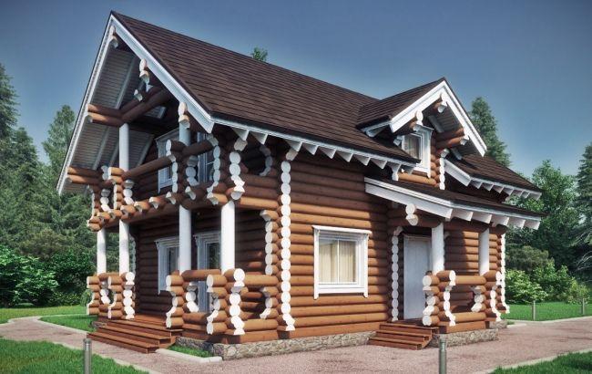 Дом из оцилиндрованного бревна2