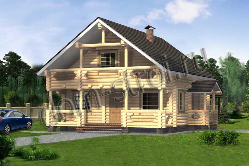 Дом из оцилиндрованного бревна3