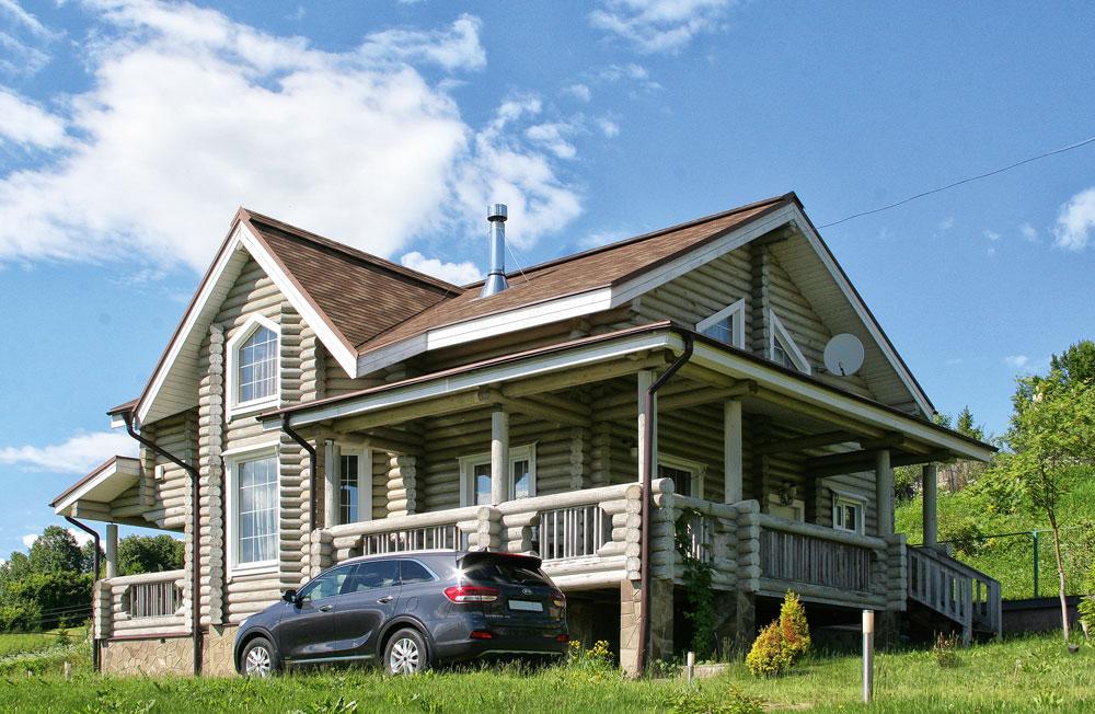 Дом из оцилиндрованного бревна4