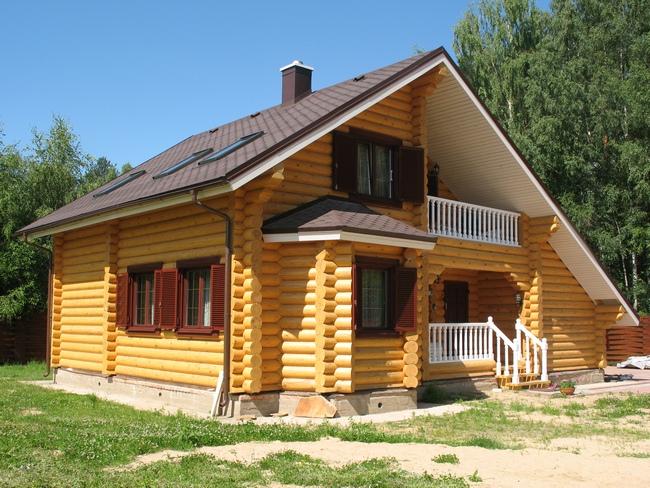 Дом из оцилиндрованного бревна5