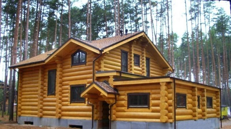 Дом из оцилиндрованного бревна8