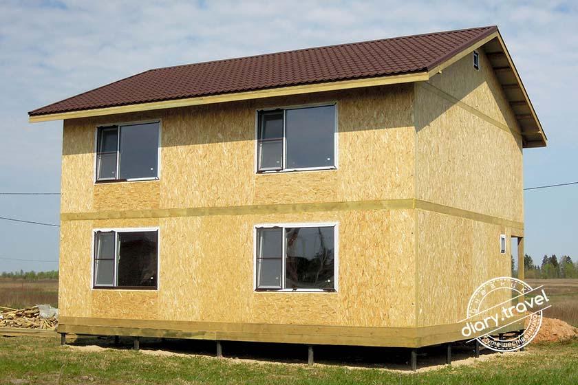 Дом из сип панелей0