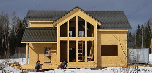 Дом из сип панелей1