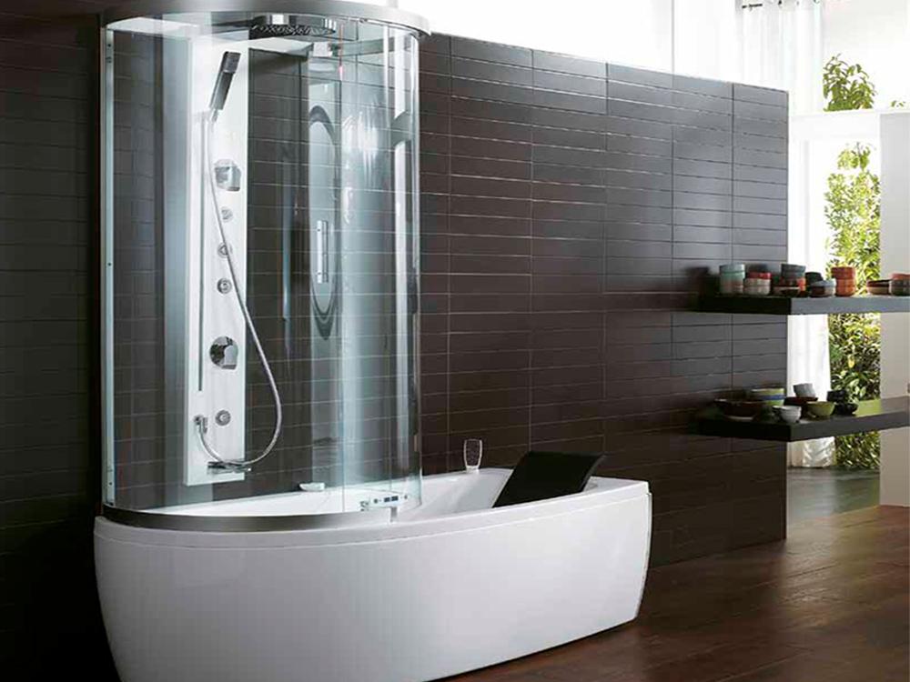 Душевая кабина, совмещенная с ванной0