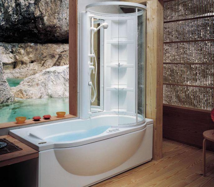 Душевая кабина, совмещенная с ванной5