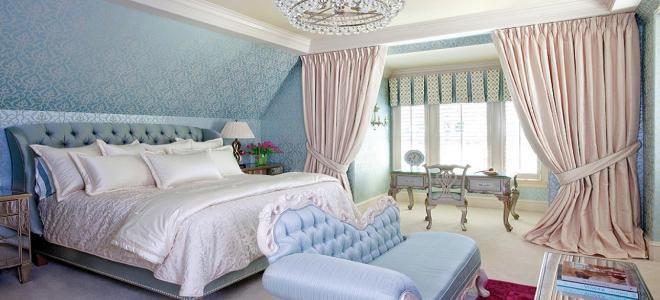Голубые обои для спальни: идеи для интерьера1