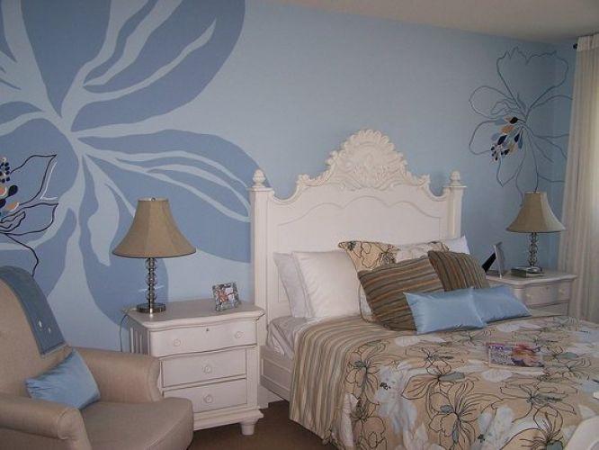 Голубые обои для спальни: идеи для интерьера2