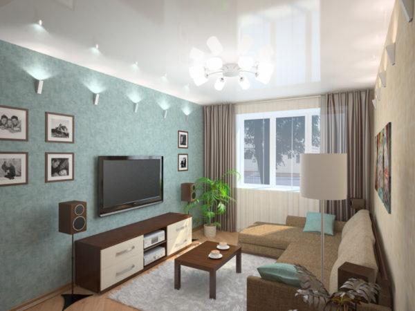 Гостиная 9 кв м: как оформить дизайн внутреннего интерьера?1
