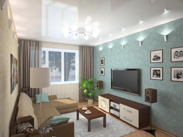 Гостиная 9 кв м: как оформить дизайн внутреннего интерьера?3