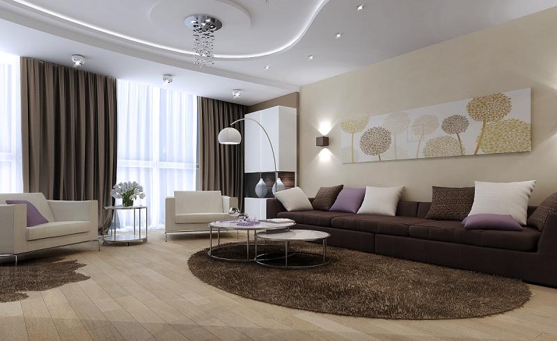 Гостиная 9 кв м: как оформить дизайн внутреннего интерьера?0