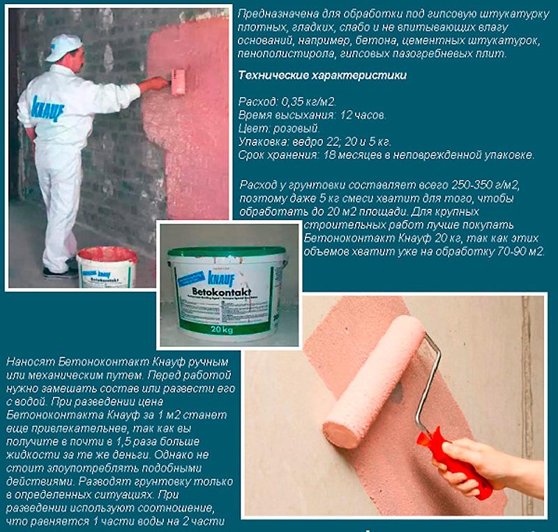 Грунтовка бетоноконтакт – самое лучшее средство для малопористых оснований5