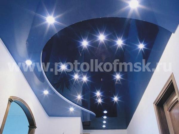 Идеи расположения светильников на натяжном потолке3
