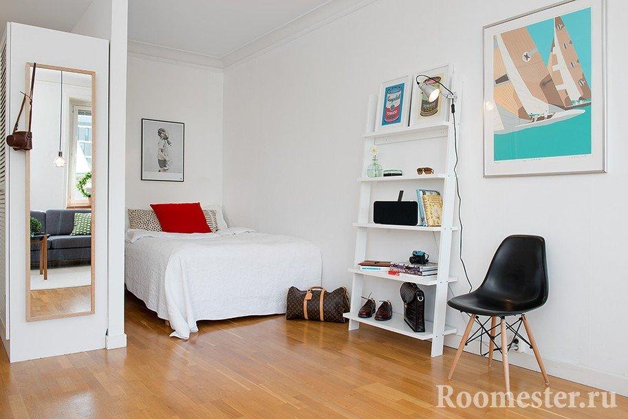 Интерьер комнаты с нишей9