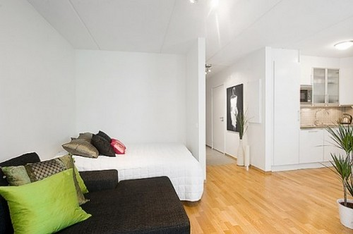 Интерьер комнаты с нишей10