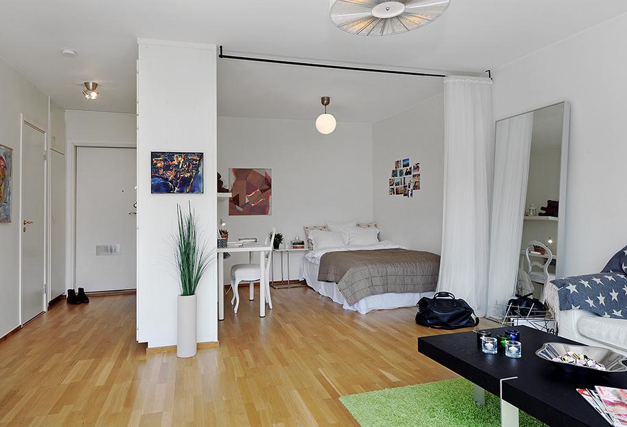 Интерьер комнаты с нишей3