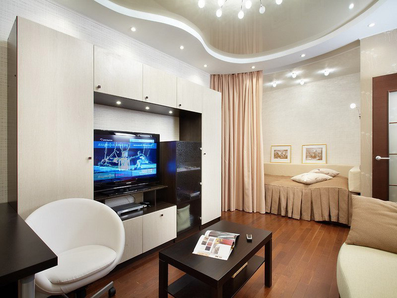 Интерьер комнаты с нишей4