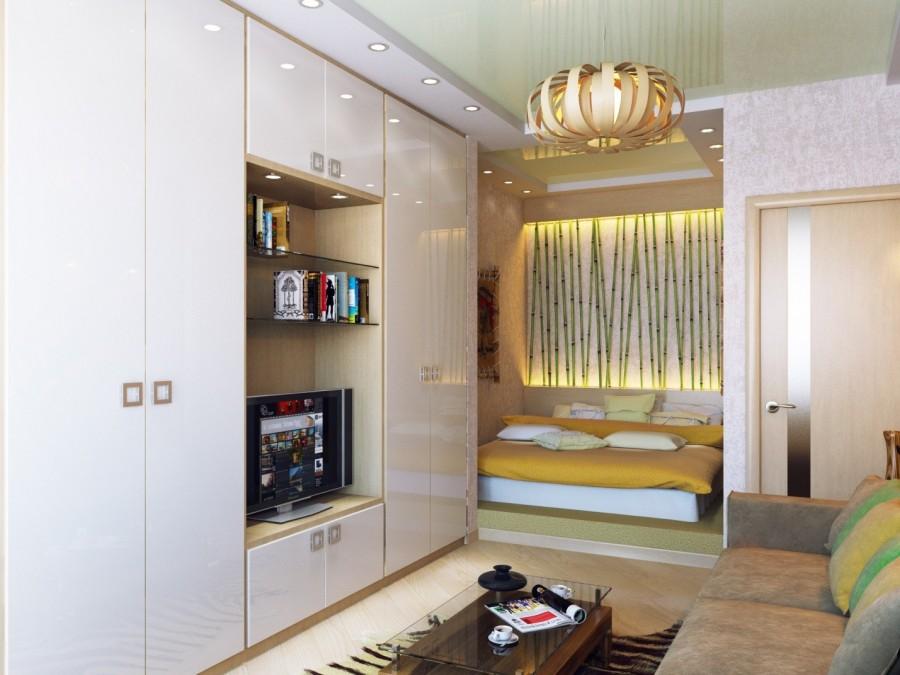Интерьер комнаты с нишей6